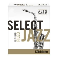 Caja de 10 cañas D'ADDARIO Jazz Select Filed para saxofón alto