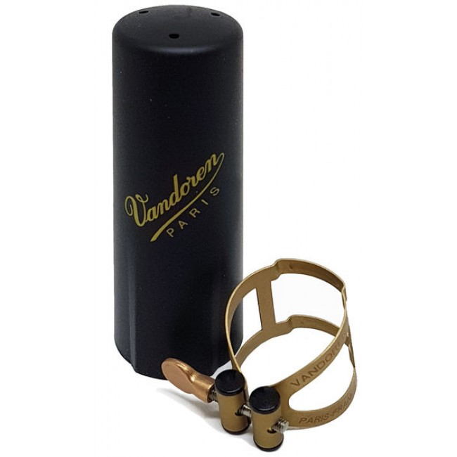 Ligature and cap VANDOREN M-O golden finish for tenor sax