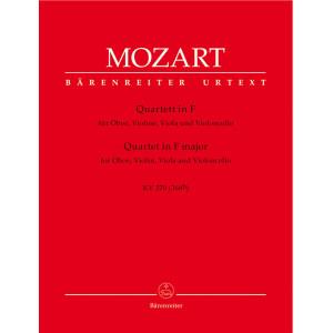 Quartet for Oboe, Violin, Viola and Violoncello in F major W. A. MOZART