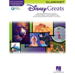 Disney Greats Clarinet Book + Audio