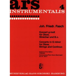Concerto in G Minor for Oboe, Strings and Continuo JOH. FRIEDR. FASCH